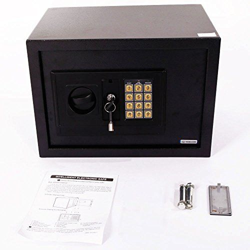 "Mefeir 9""Electronic Digital Security Safe Box Keypad Lock, Home Office Hotel Jewelry Gun Cash Use Storage (13""(Without Battery))  Designed to hold jewelry, noble metals, cash, documents, or other hard-to-replace items  Offer two options to open, code or key  Solid and robust steel construction with sturdy locks  Small size, Dimensions: (13.85 x 9.92 x 9.92)"" / (35.2 x 25.2 x 25.2)cm(L x W x H),easily fit anywhere(Home or Office)  Burglary resistant design, highly reliable and dependabl..."