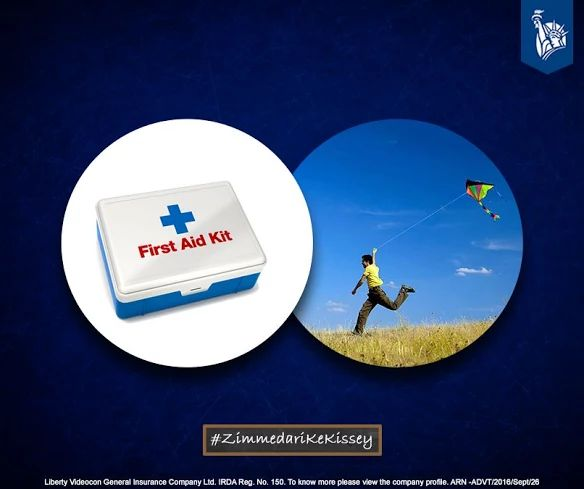 Zimmedari was keeping a first aid kit handy for cuts due to glass threads, during Kite Flying. #ZimmedariKeKissey