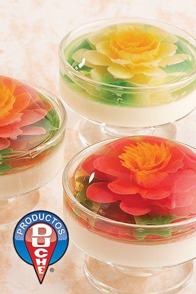 Elegant gelatin dessert for a special occasion