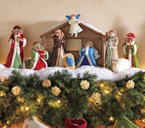 Felt Nativity Scene Pottery Barn Kids To Calendar