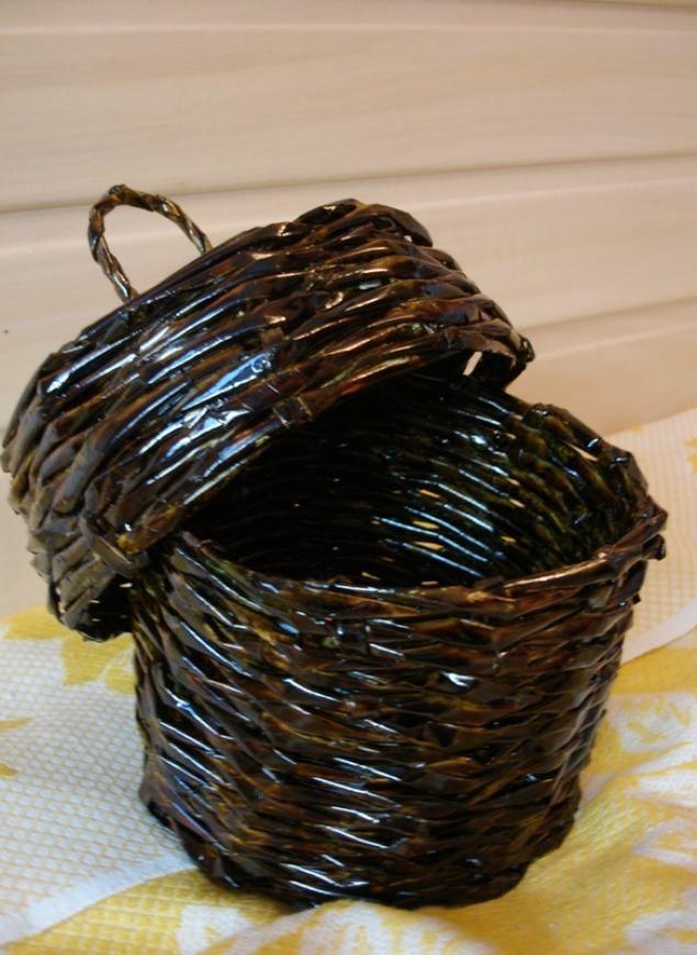 МК плетение из газет. - Ярмарка Мастеров - ручная работа, handmade