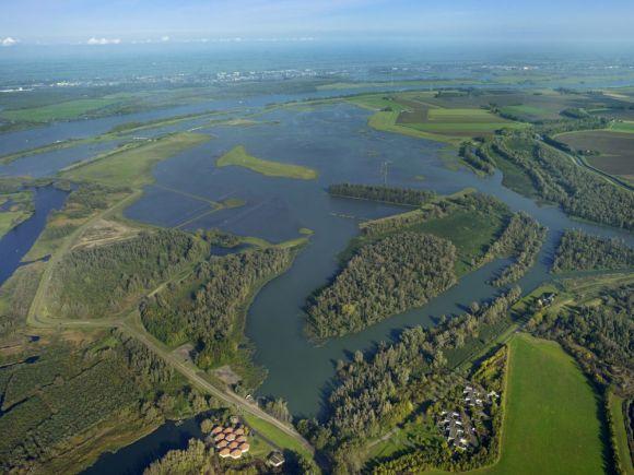 De Biesbosch vanuit de lucht