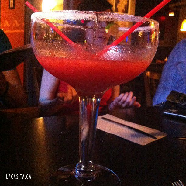 Starting my long weekend off right! #giant #strawberry #margharita #20 #ounces #lacasita #gastown #drink #drank #drunk #goodtimes  La Casita Gastown Mexican Food Restaurant 101 West Cordova str, V6B 1E1 Vancouver, BC, CANADA Phone: 604 646 2444 http://www.lacasita.ca