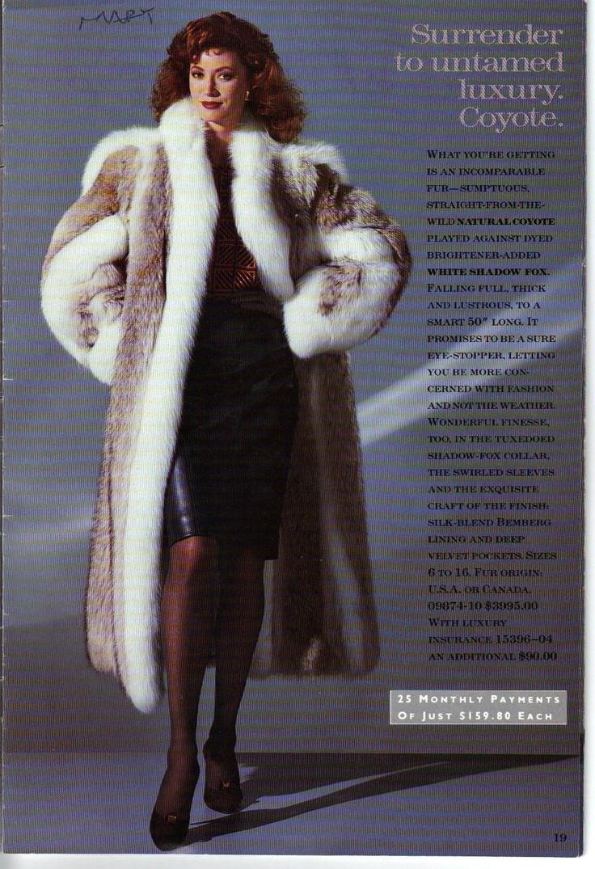 Coyote Coat Ad The Decade Of Fur 1980 S Fur Fashion