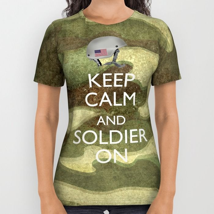 Keep Calm and Soldier On All Over Print Shirt by Bruce Stanfield | Society6