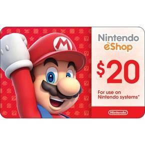 """Get the games you want, when you want them with a Nintendo eShop Card! Choose from over 1,000 games to download directly to your system.<br><br>A Nintendo Mario Luigi eGift Card $20 is the perfect gift for anyone who loves Nintendo and Wii games. You don't need to be able to remember when Mario was known as """"Jump Man"""" in the old Donkey Kong game to be fanatically into Nintendo and Wii today, but from that beginning, Mario and his twin brother, Luigi, ..."""