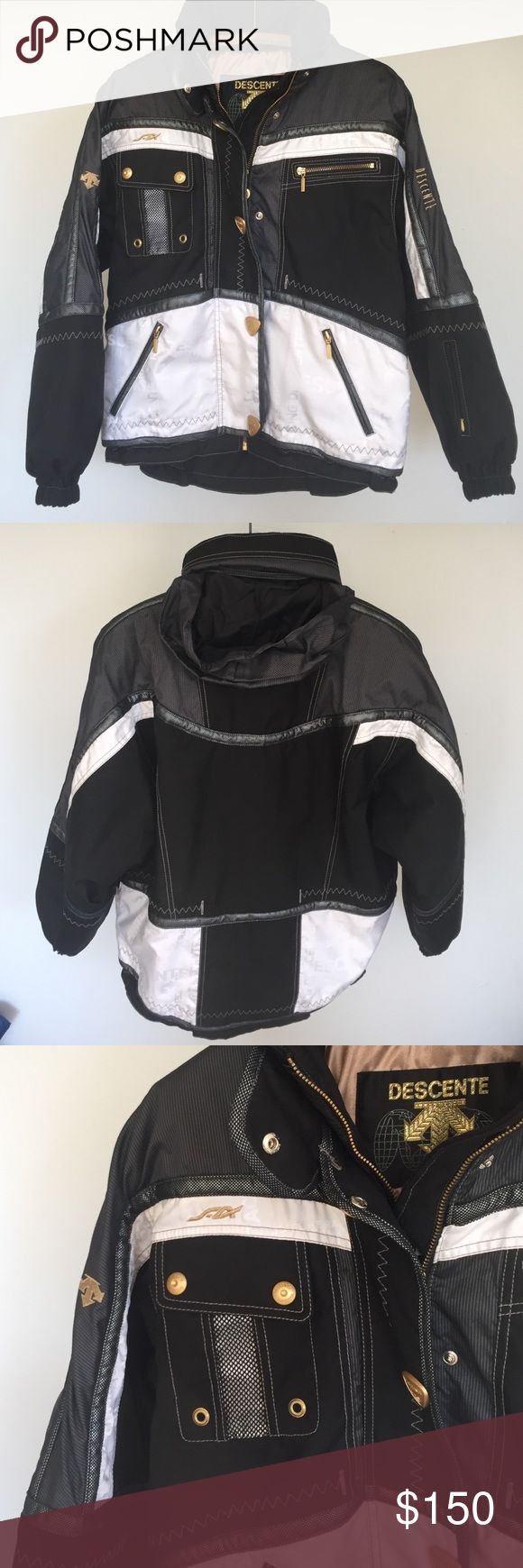 Descente ski jacket Mint condition. No issues. Worn once. Warm ski jacket. Cool color combo. Lots of pockets descente Jackets & Coats