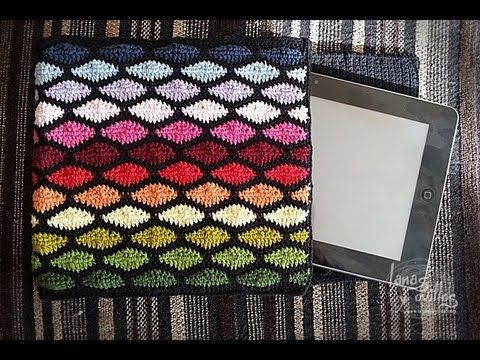 Tutorial Funda Tablet Crochet o Ganchillo Punto Ondas Wave Stitch - YouTube