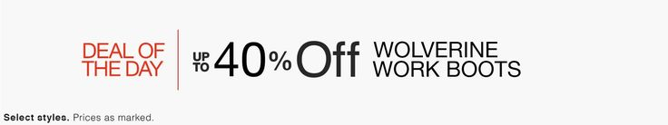 DEAL OF THE DAY - Up to 40% Off Wolverine Work Boots! - http://www.pinchingyourpennies.com/deal-day-40-off-wolverine-work-boots/ #Amazon, #Wolverine, #Workboots