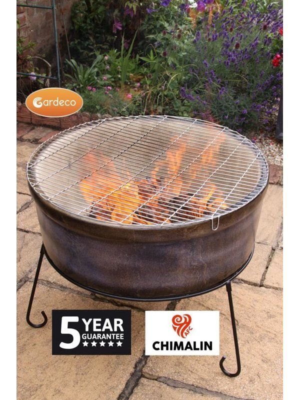 Atlas Clay Wood Burning Fire Pit Fire Pit Fire Bowls Wood Fire Pit