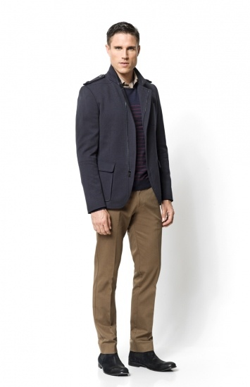 Calibre - Fargo Jacket   Westwood Star Shirt   Bretton Stripe   Bleeker Pant   Navy Ankle Boot