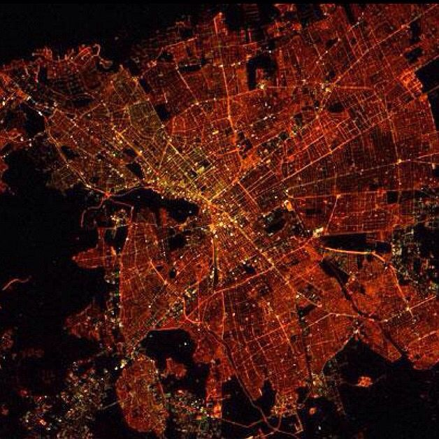 Santiago, Chile. Photo taken from the International Space Station.