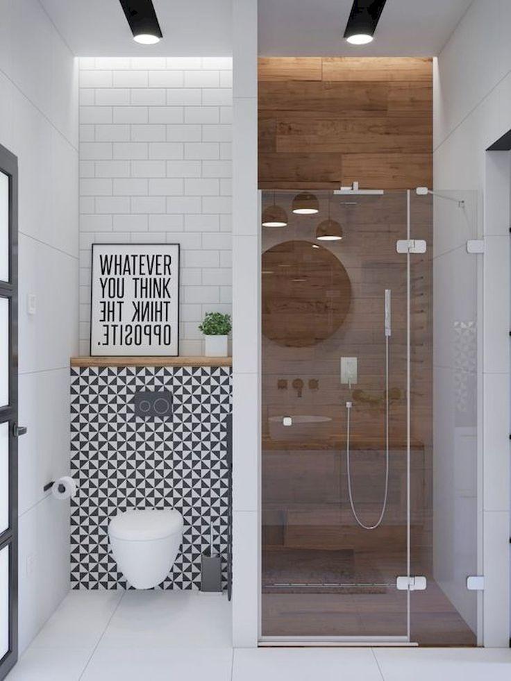 Bathroom Closet Decor Ideas Bathroom Decor Apartment Modern Bathroom Decor Ideas On A Budge Idee Salle De Bain Design De Salle De Bain Salle De Bains Moderne
