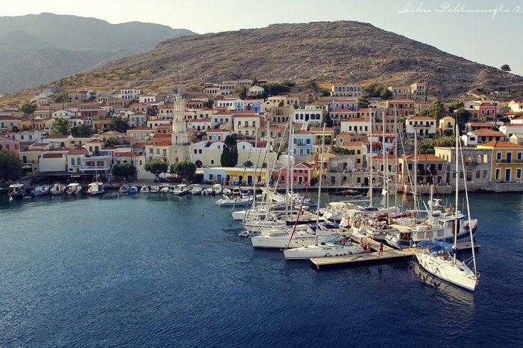 GREECE CHANNEL | Chalki Island by Gökçe Pehlivanoğlu on 500px