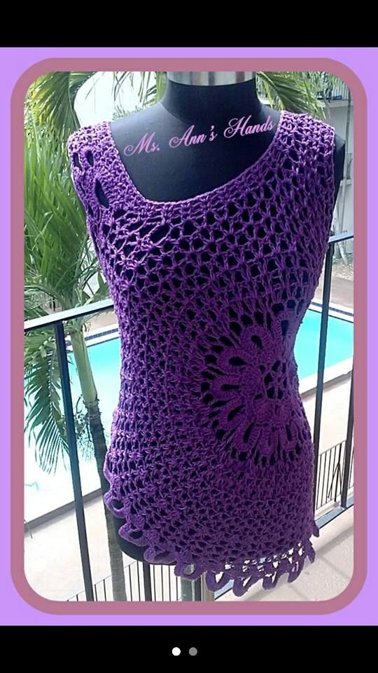 Crochet Lace Tank Top Pattern