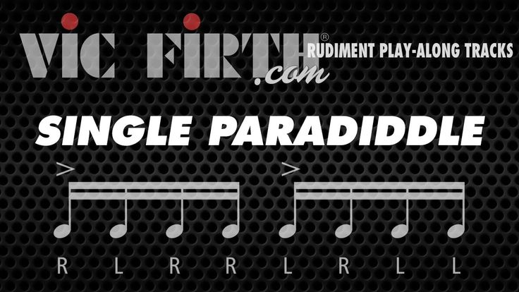 Single Paradiddle: Vic Firth Rudiment Playalong. I finally reached platinum! !