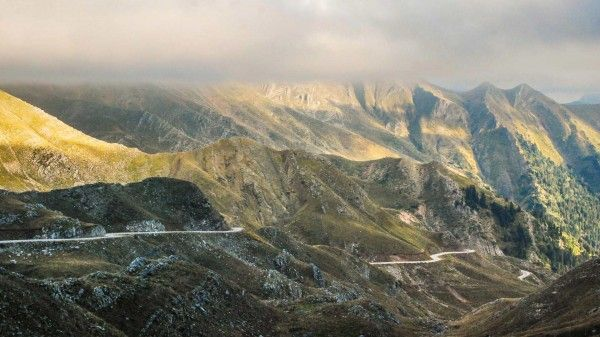 motorcycle roads : Baros Pass, highest paved road in Greece (aprox. 2000 meters altitude). Tzoumerka region.