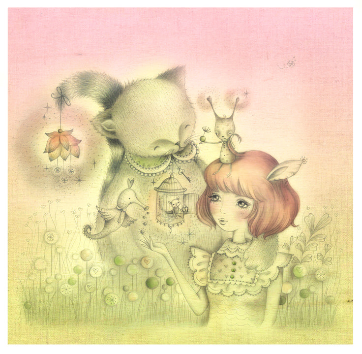 alice wong- field of dreams girl and big cat