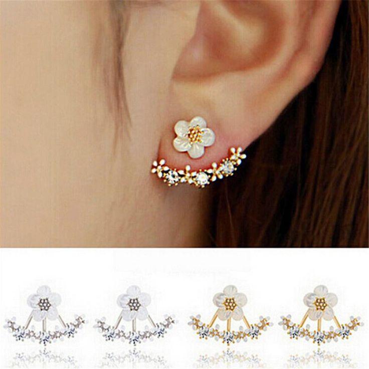 Trendy Cute Flower Stud Earrings for Women