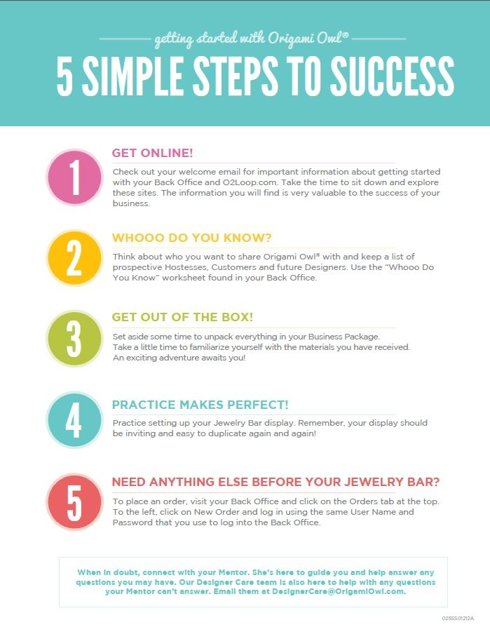 5 Simple Steps to Success in Your Origami Owl Business. Follow CINDY CAZARES on FB! https://www.facebook.com/hellociindycharms