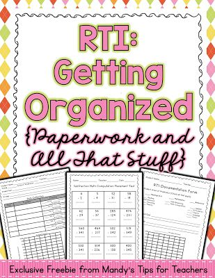 4 Tips to Make RTI Easier! FREE 20+ page packet!! - repinned by @PediaStaff – Please Visit ht.ly/63sNt for all our pediatric therapy pins