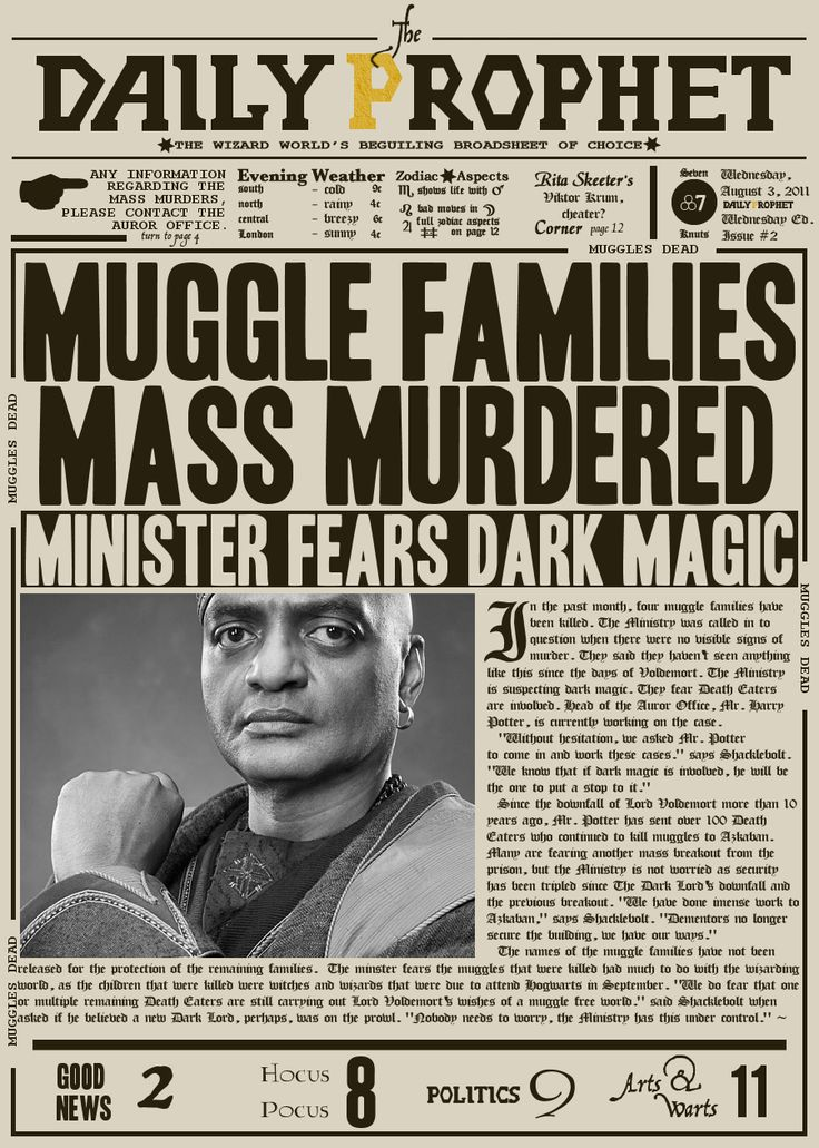 Amazing image in harry potter daily prophet printable