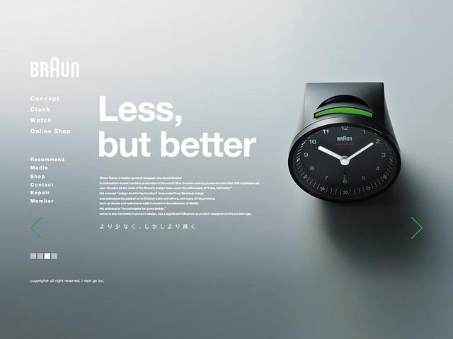 Braun, website