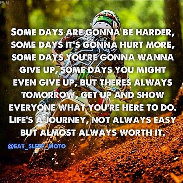 Motocross Quotes 32  #RePin by AT Social Media Marketing - Pinterest Marketing Specialists ATSocialMedia.co.uk