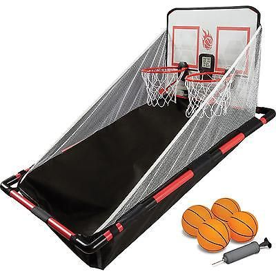 Indoor Arcade Basketball Game Hoops 2 Players Kids Electronic Sports Game Room