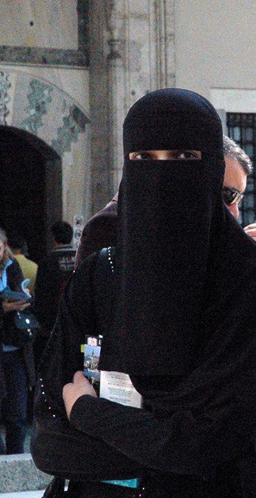 one layer niqab, traditional saudi style