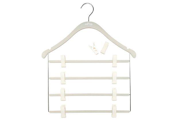 S/5 Pant/Skirt Slim Hanger w/Clips, Wt on OneKingsLane.com