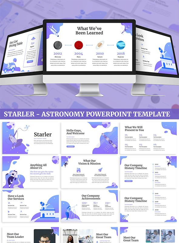 Starler - Astronomy Powerpoint Template Preview