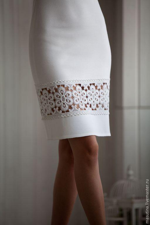 """Купить Платье """"Магия белого"""" - белый, однотонный, белое платье, платье с кружевом, сшить платье"""