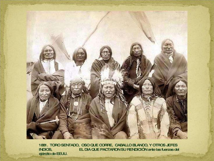 Toro sentado.1881 el dia q pactaron su rendicion ante el ejerc de los EEUU. 45 momentos históricos fotografiados