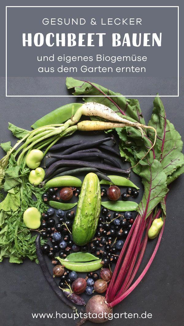 DIY Anleitung, wie man ein Hochbeet für den Garten selber bauen kann. Ein Hochbeet ist ideal für den Gemüsegarten, Urban Gardening und ein tolles Projekt in Sachen Upcycling und Nachhaltigkeit. Vegan ist das Gemüse auch...