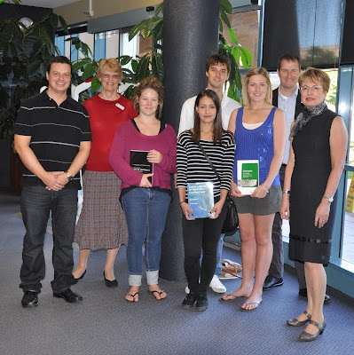 Bond University Law Library Orientation quiz winners from Semester 2, 2012