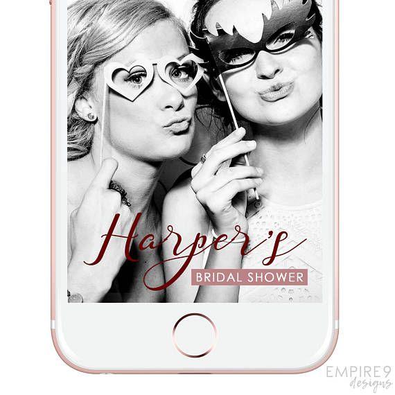 Bridal Shower Snapchat Filter Bachelorette Party Snapchat
