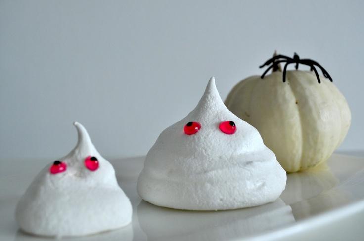 Spooky Ghost Meringues Recipe — Dishmaps