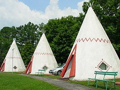 Sleep in a Wigwam near Mammoth Cave National Park in Kentucky. Have seen these many many times. Grew up a few miles from here :)