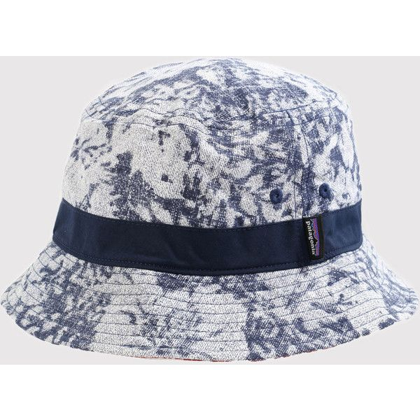 Patagonia Wavefarer Bucket Hat - Hawaiian Navy (44 NZD) ❤ liked on Polyvore featuring accessories, hats, hawaiian navy blue, navy hat, hawaiian hat, navy bucket hat, navy blue bucket hat and patagonia