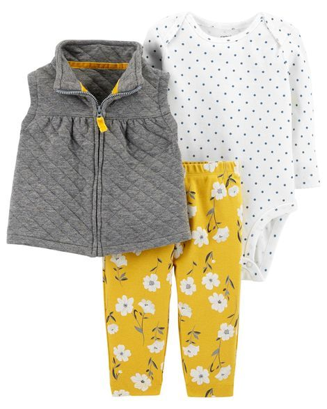 8bdab4ea6 Baby Girl 3-Piece Little Vest Set from Carters.com. Shop clothing ...