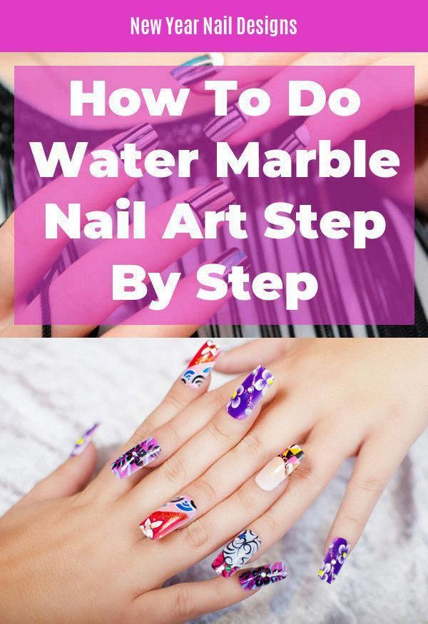 How To Do Water Marble Nail Art Step By Step. Great ...