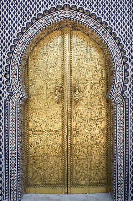 Maroc - Fez (Fès) gold door