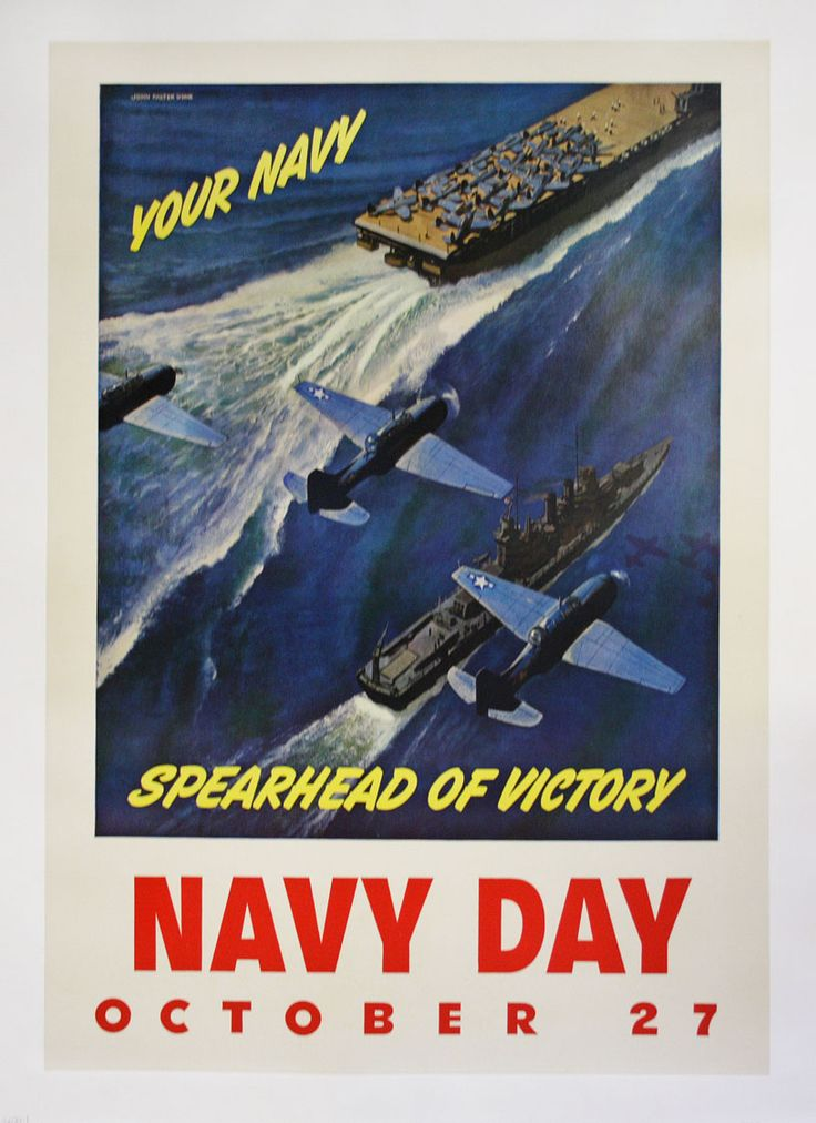 Navy Day Poster from the 1940s, perhaps