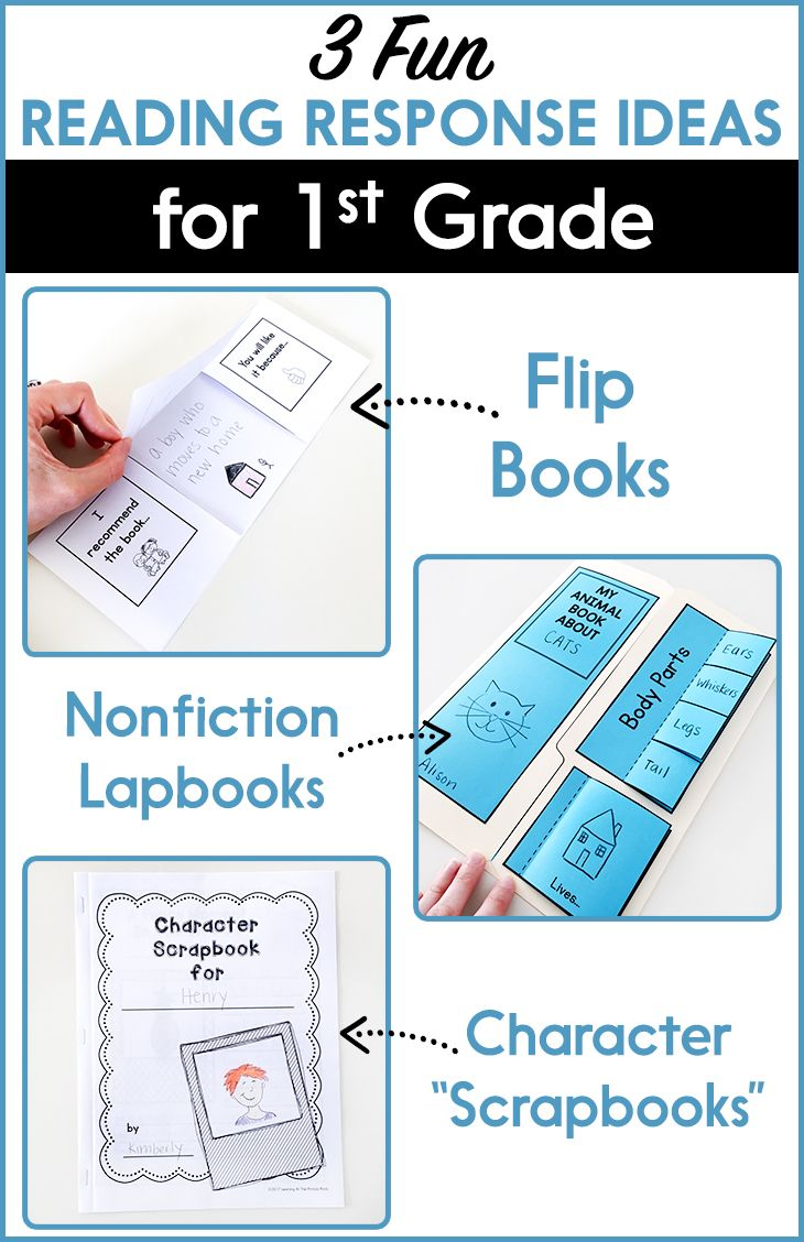 Fun literature response activities for first grade! These reading response activities make a great literacy center or activity for Daily 5.