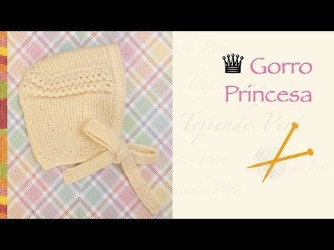 Gorro princesa tejido en dos agujas o palitos. Más videos: https://www.youtube.com/user/esperosas/videos