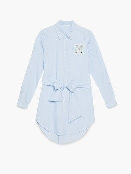 Shirt dress fil à fil con patch 3