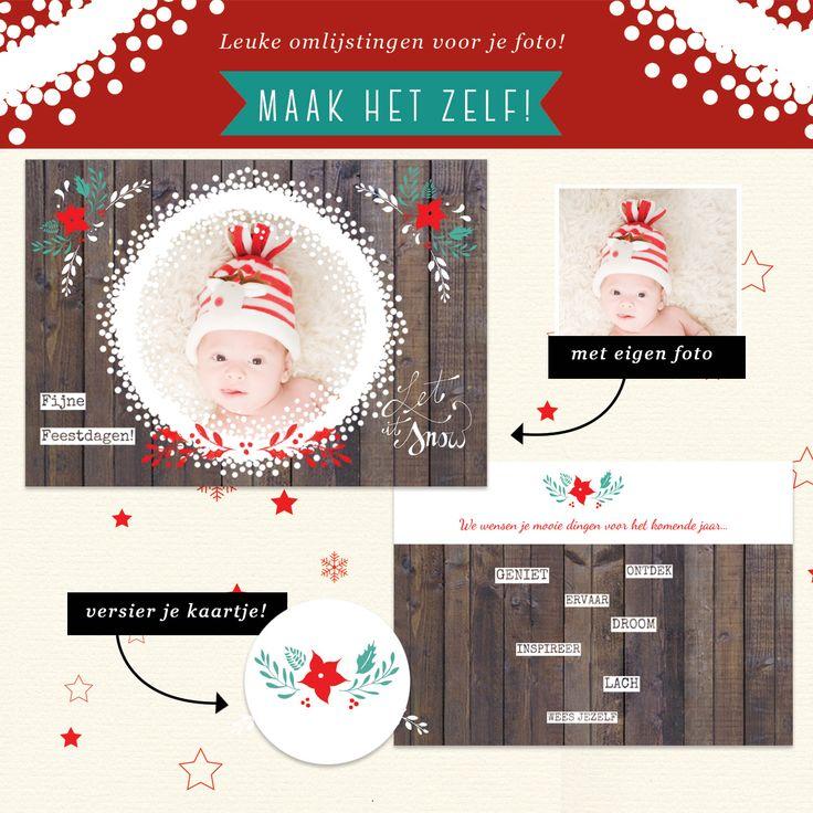 Voor je het weet is het alweer kerst. Maak een lekker originele kerstkaart met eigen foto bij Fotokaarten.nl Trouwens, we hebben ook leuke ideetjes voor teksten op je kerstkaarten!