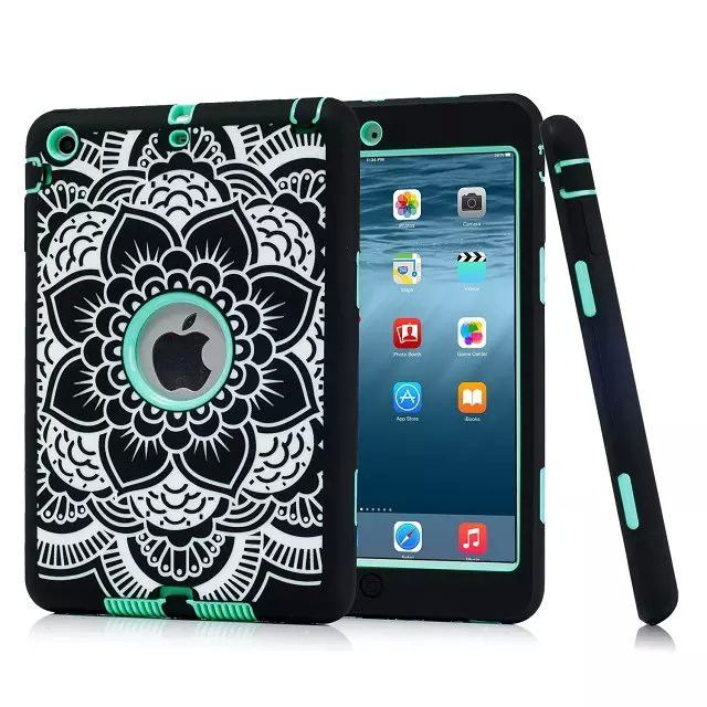 For Ipad Mini 3 2 1 Rugged Fl Print Case Cover Shockproof Heavy Duty Rubber Skin Le Conque Capa