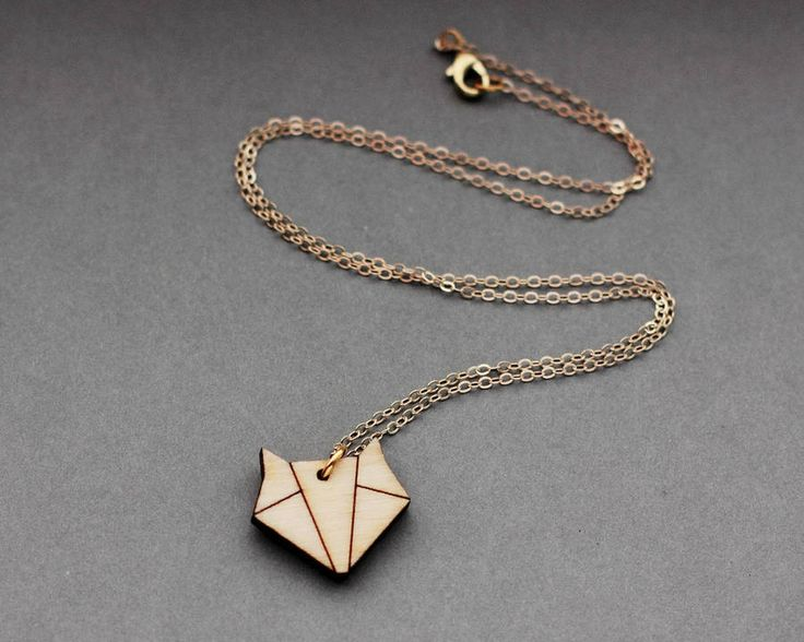 Wooden Origami Fox Necklace from notonthehighstreet.com